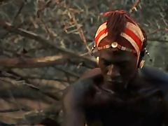 White Woman and African Warrior Romance porn video