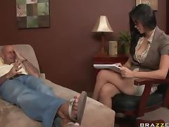 Allure, Allure, Big Tits, Brunette, Facial, Office