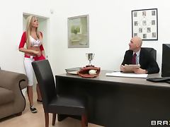 Gagging, Babe, Cumshot, Gagging, Horny, Office