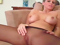 Julia Ann pantyhose jerk off instructions porn video