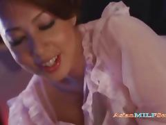 Busty Milf In Nighty Giving Blowjob Rubbing Cock With Tits Cum To Mouth On The Bed porn video