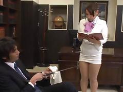 Sexy Secretary Chihara Nakai Pleases Her Horny Boss