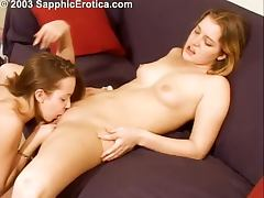 Two naughty teens are having a hot lesbian sex