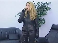 Leather Clad Bitch Smoking Cigar