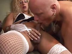 Horny ladyboys Carolina Esmeralda and Ruby destroy Tom Moore's asshole