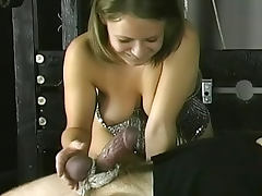 Kinky dungeon play with a BDSM fuck
