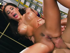 Baby oil sex with stunning Aleksa Nicole