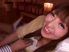 Miina Minamoto gets down on your cock and sucks it