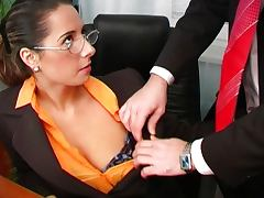 Brunette, Brunette, Couple, Cumshot, Ethnic, Glasses