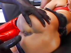 Blonde pervert ass fucked in gang bang