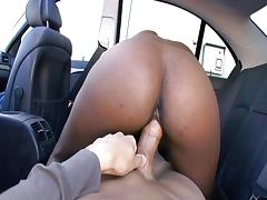 Leather seat cock riding makes her splooge