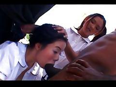 Asian Teen, Black, Brunette, Ebony, Oriental, Penis