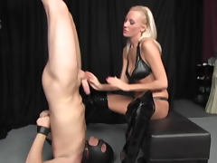 Heels, Ass Licking, Blonde, Boots, Domination, Heels