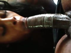 Jamaican Freak sucking on my dick