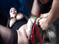 Sexy lesbian fetish gathering