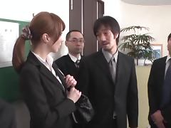 Reiko Sawamura getting punished and fucked by her colleagues