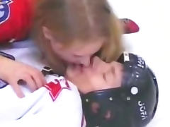Russian pauline polyanskaya in ice hockey prt 2