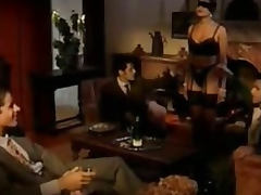 Vicious Brunette Slut Gets Gangbanged And Facialized Vintage German Porn