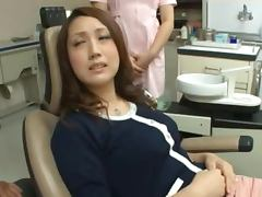 Horny MILF Fucks Her New Dentist With His Assistant Helping Out