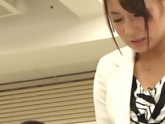 New Secretary Chihara Nakai Fucked With A Vibrator By Her Boss