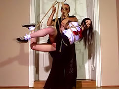 Tied schoolgirl Amber Nevada being humiliated