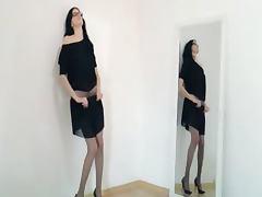 Hot 22yo girl teasing in front of mirorr