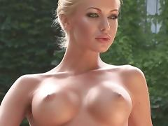 Posing, Big Tits, Blonde, Curvy, Nude, Outdoor