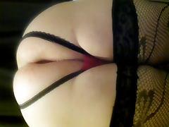 My fat ass trying huge dildo