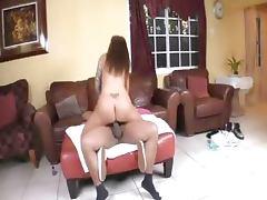 Hot Squirting Slut Gets Stuffed by Ebony Dick