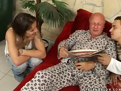 Dirty Dominika Takes Two Cocks In Her Holes