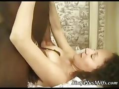 Granny gets big black in her ass