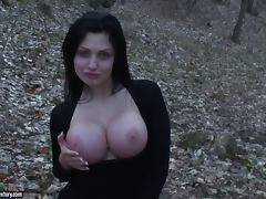 Forest, Big Tits, Couple, Cum in Mouth, Cumshot, Facial