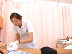 Japanese kinky nurse is giving a fantastic blow job