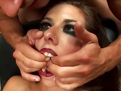 Marika Ferrero gets double load of jizz