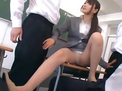 Hot Teacher Rui Saotome Craves Cum From Any Dicks