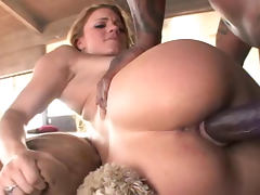 Kirra Lynne is sucking nasty black snake