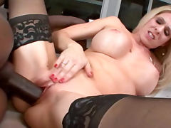 Angela Attison sucks hot tasty black wiener