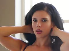 Mercedes Raquel the pretty Latin babe takes her lingerie off