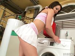 Laundry can wait when Wibeke is sexcited