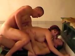 Bisexual MMF in small apartment
