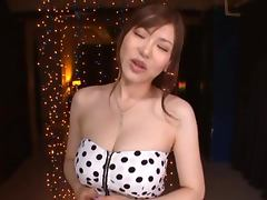 Beautiful Japanese Girl Anri Okita Gets a Facial as Reward for Blowjob