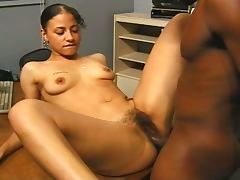 Latina gets a big black cock for audition