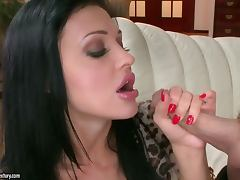 Aletta Ocean sucks a hard cock and welcomes it in her pussy and ass