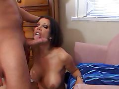 Femme fatale giving his cock a good sucking