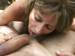 Juditta is fucking with her bf in the forest