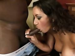 Busty mom goes black