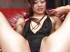Cute Japanese babe toyed hard uncensored
