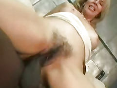 Horny hot ass cougar blonde fucked by huge black cock