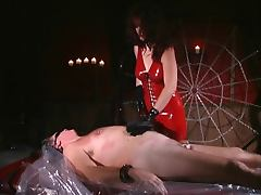 Stud gets clamped and then plastic wrapped