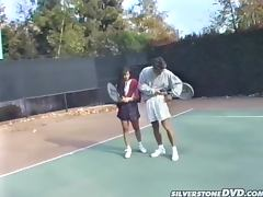 Hardcore Fucking on the Tennis Court for Retro Pornstar Alex Dane